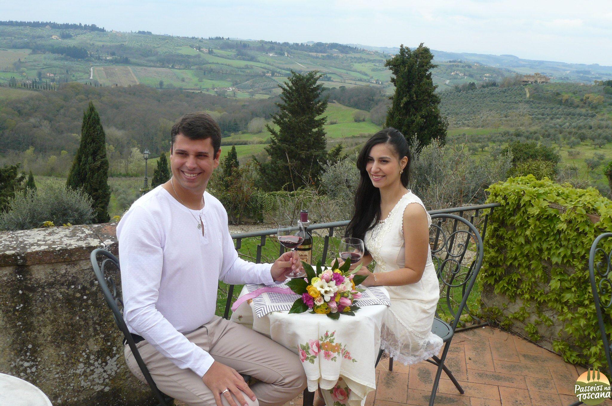 cerimonia de um dos nossos leitores em uma vinícola no Chianti