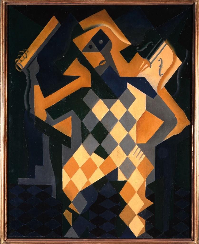 Juan Gris (Madrid 1887-Boulogne-Billancourt 1927) Arlequim com violino 1919, olio su tela, cm 91,7 x 73. Collezione del Museo Nacional Centro de Arte Reina Sofía, Madrid