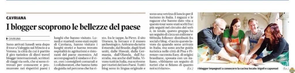 No Jornal de Cavriana, onde erraram o meu nome... ahaha erro de digitação, a Easy sou eu!