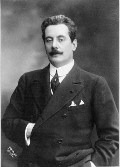 Retrato de Puccini  Fonte: Wikipedia Commons