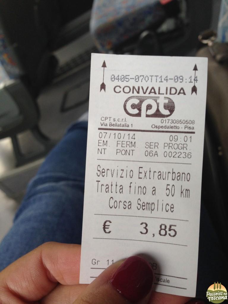 bilhete Pontedera-Volterra