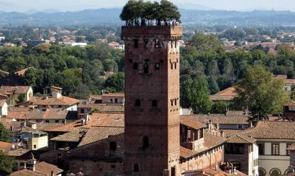 Lucca vista do alto da Torre Guinigi