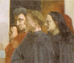 O retrato de Masaccio, Brunelleschi, Alberti e Masolino Foto -  Wikipedia Commons