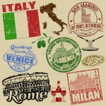 Stamps with Italy