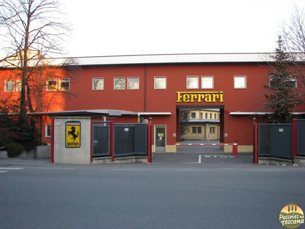Fábrica da Ferrari, não é aberta a visitas