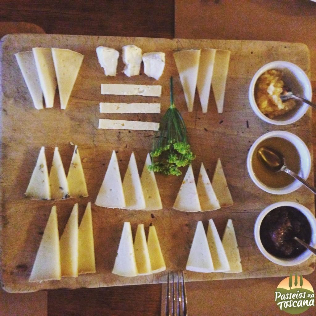 degustação de queijos em Pienza