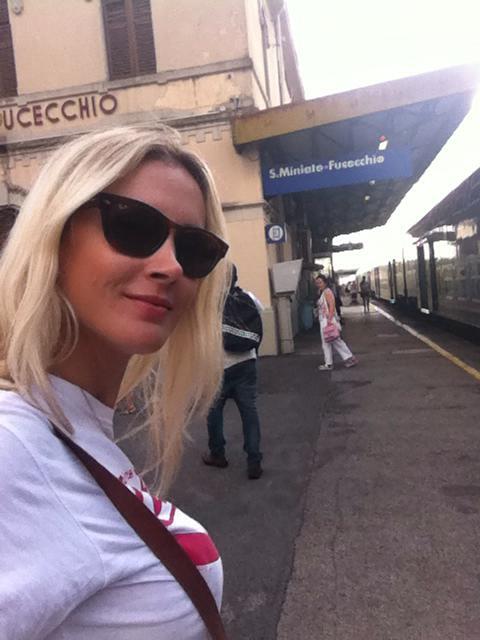 na estação de trem