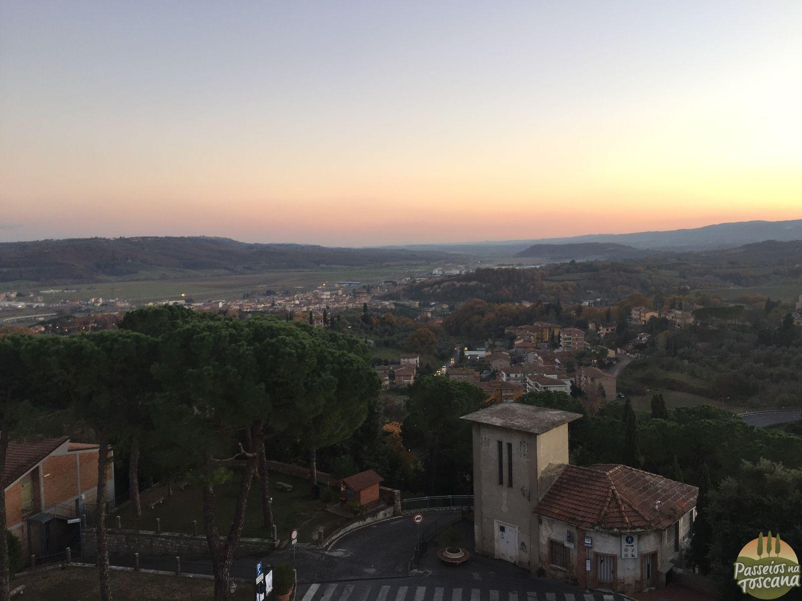 pôr-do-sol de Chiusi