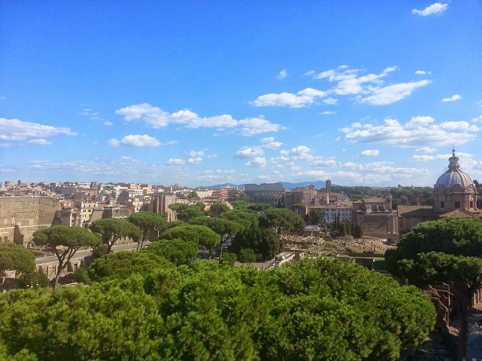 vista de um hotel em Roma