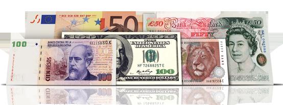 Câmbio, compra de moeda ou cartão com desconto