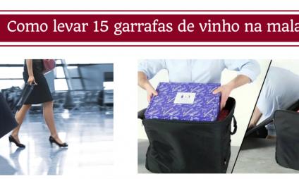 Como levar 15 garrafas de vinhos em uma mala sem preocupação