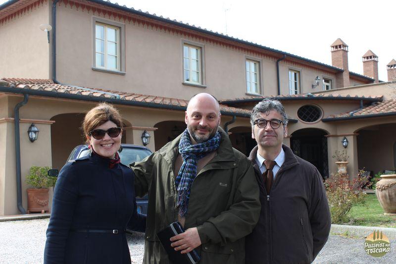 Eu, Carlo Quaglierini e o administrador do