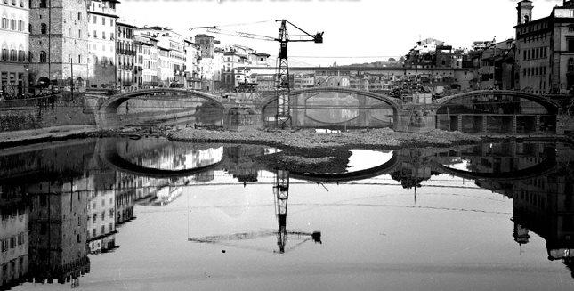a reconstrução da Ponte