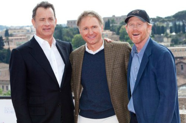 Tom Hanks, Ron Howard e Dan Brown
