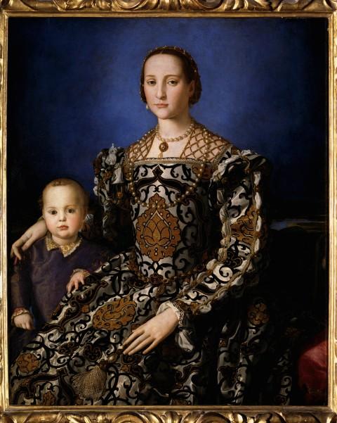 Eleonora di Toledo - quadro de Bronzino, que fica no Uffizi