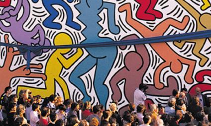Arte urbana em Pisa: Tuttomondo, o mural de Keith Haring