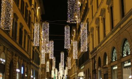 Fotos de Florença iluminada para o Natal