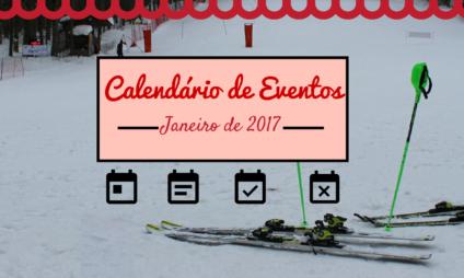 Calendário de eventos na Toscana em janeiro de 2017