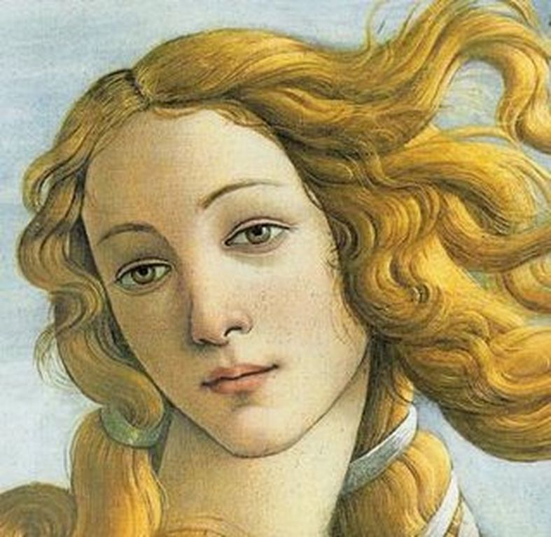 "Venere - detalhe da pintura ""Nascimento de Vênus"" Botticelli"