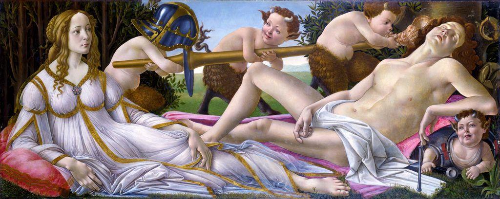 Vênus e Marte - Botticelli