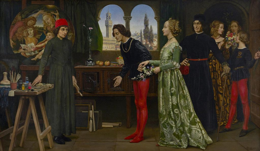 Eleanor Fortescue-Brickdale - Botticelli's Studio