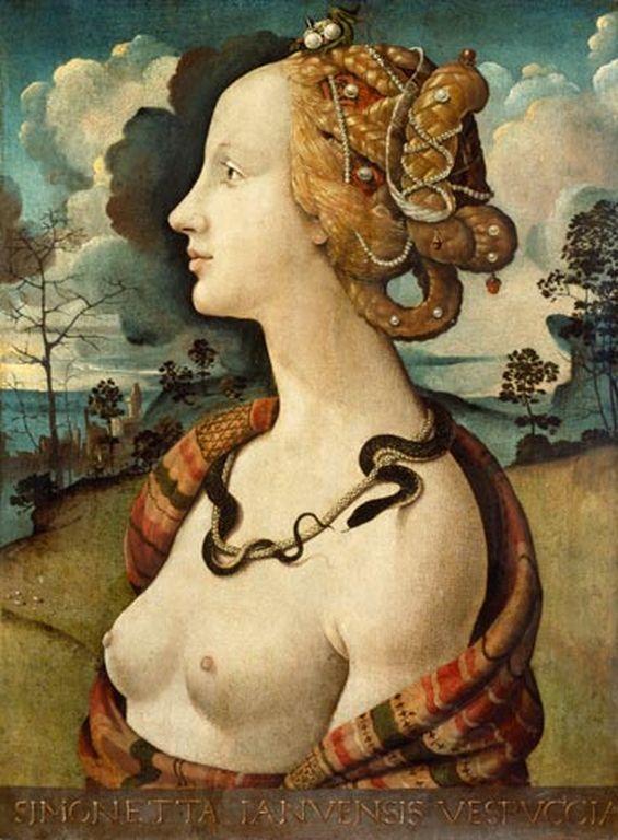 Retrato di una fanciulla - acredita-se ser Simonetta Vespucci - Piero di Cosimo
