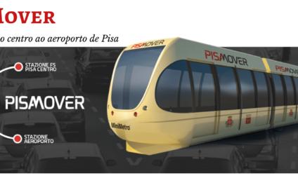 Pisa Mover, o tram de Pisa que liga o centro ao aeroporto