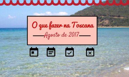 Calendário de eventos em agosto na Toscana