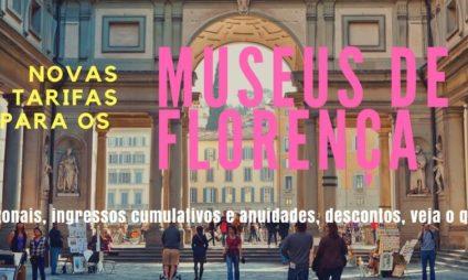 Novas tarifas para os Museus de Florença