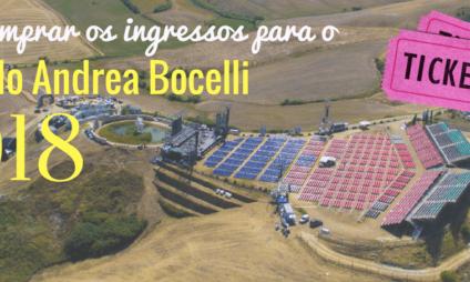 Como comprar os ingressos para o Show do Andrea Bocelli 2018