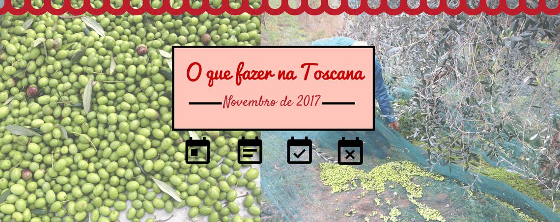 Calendário de eventos de novembro na Toscana