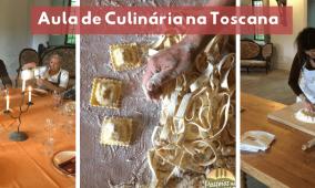 Aula de culinária na Toscana