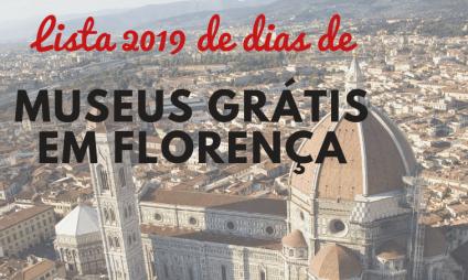 Lista 2019 de dias de museus grátis em Florença